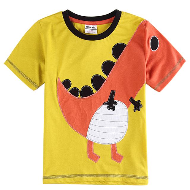 Dinossauros crianças impressos camisetas 2015 chegam novas menino roupas de marca de estilo de verão crianças roupas meninos manga curta camisas C6186Y