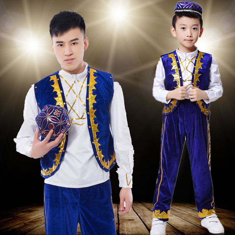 Child Tibetan Dance Costume Chinese Folk Dance Clothing Chinese Dai Dnace Clothing Miao Dance Cotume For Men Hmong Clothes 18