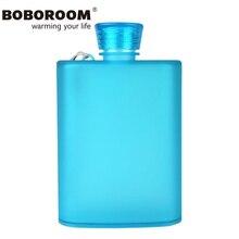 BOBOROOM Brand Water Bottle Flask For Alcohol 2017 New Hip Flask Food Grade AS Flagon Cups 400ml My Bottle Sport Water Bottle