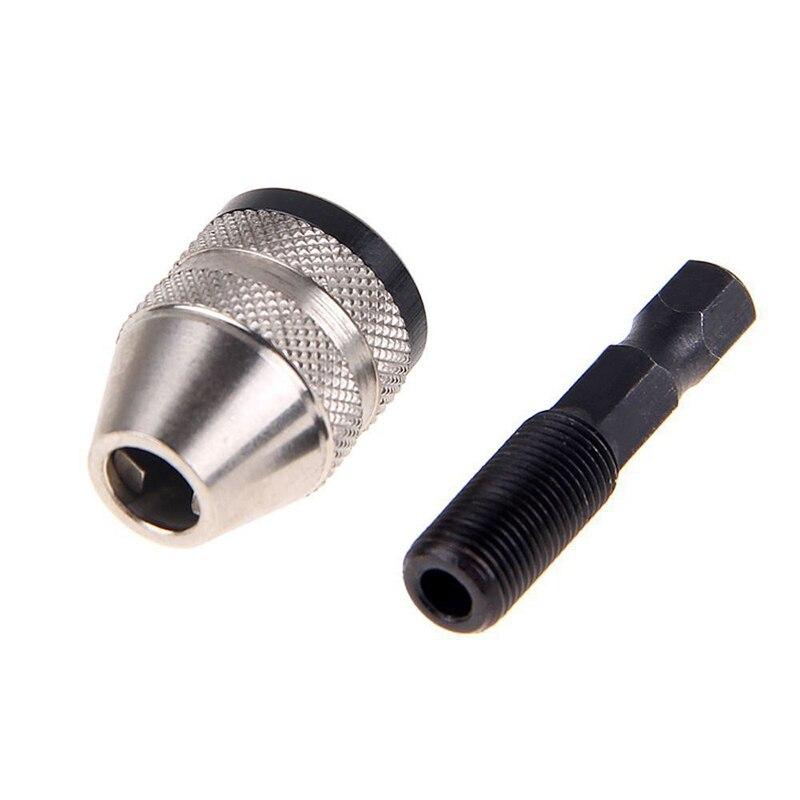 Keyless Drill Chuck Quick Screwdriver Impact Driver Adaptor 1/4 Hex Shank Keyless Drill Bit Chuck