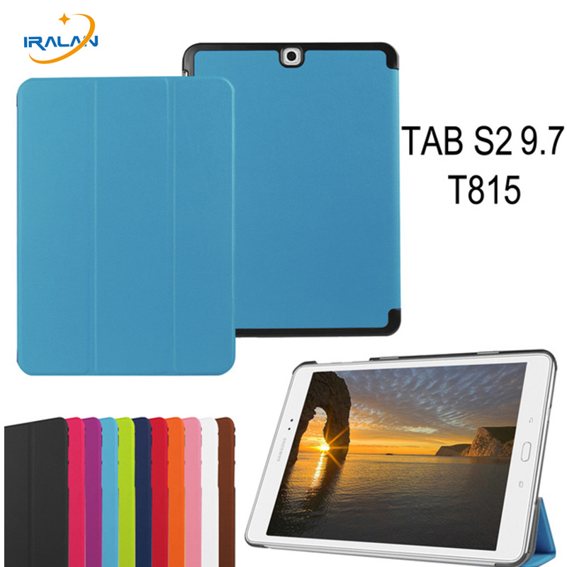 2018 Hot new case For Samsung Galaxy Tab S2 9.7 T810 T815 9.7 inch protect Business Smart Stand Tablet cover + Stylus + film