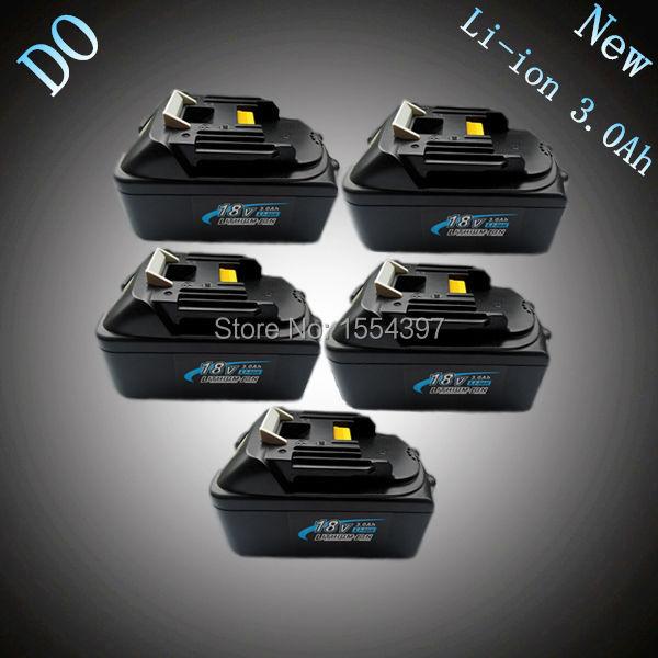 5 pcs New Li-ion 3000 mah Remplacement Power Tool Batterie pour Makita 18 v BL1830 LXT400 194205-3 194230 -4 18 volts