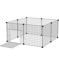 Pet Dog Fence Playpen Rabbit Home Crate DIY Metal Wire Kennel Extendable Pet Cage For Bunny Puppy Rabbit Ferret Guinea Pig