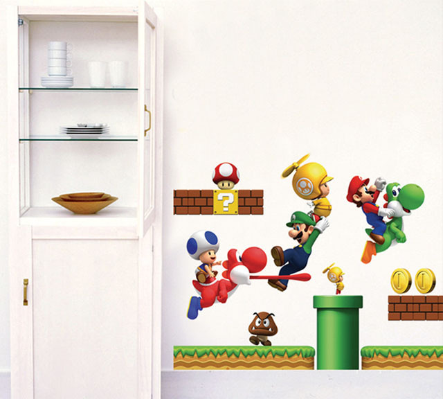 Exceptionnel ... Monopoly] New Pvc Super Mario Bros Wall Sticker Home Decor For Kids  Rooms ...