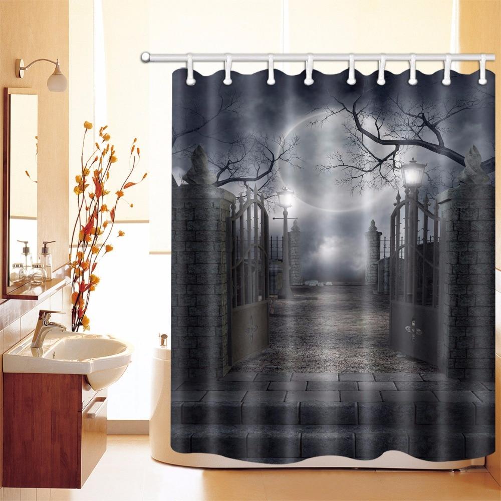 72'' Happy Halloween Enjoy Party Night Shower Curtain