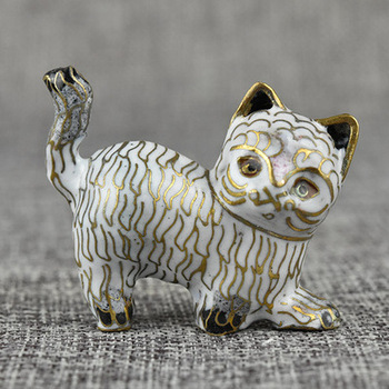 Multi-style,cloisonne old-fashioned animal cat bronze enamel Chinese-made gifts and Christmas ornaments