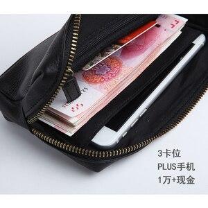 Image 3 - LANSPACE skórzany portfel męski modne portmonetki znane marki torebka