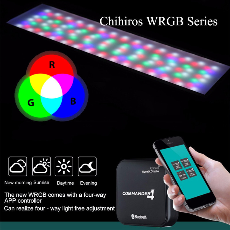 Chihiros WRGB Series LED Lighting for Water Plant Growing Simulated Sunrise Sunset Bluetooth Smart Control commander