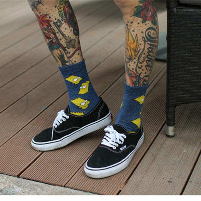 Socks Women cotton Simpsons Family Novelty Cute winter Socks Cotton Happy Funny socks Harajuku halloween calcetines sokken sox in Socks from Underwear Sleepwears
