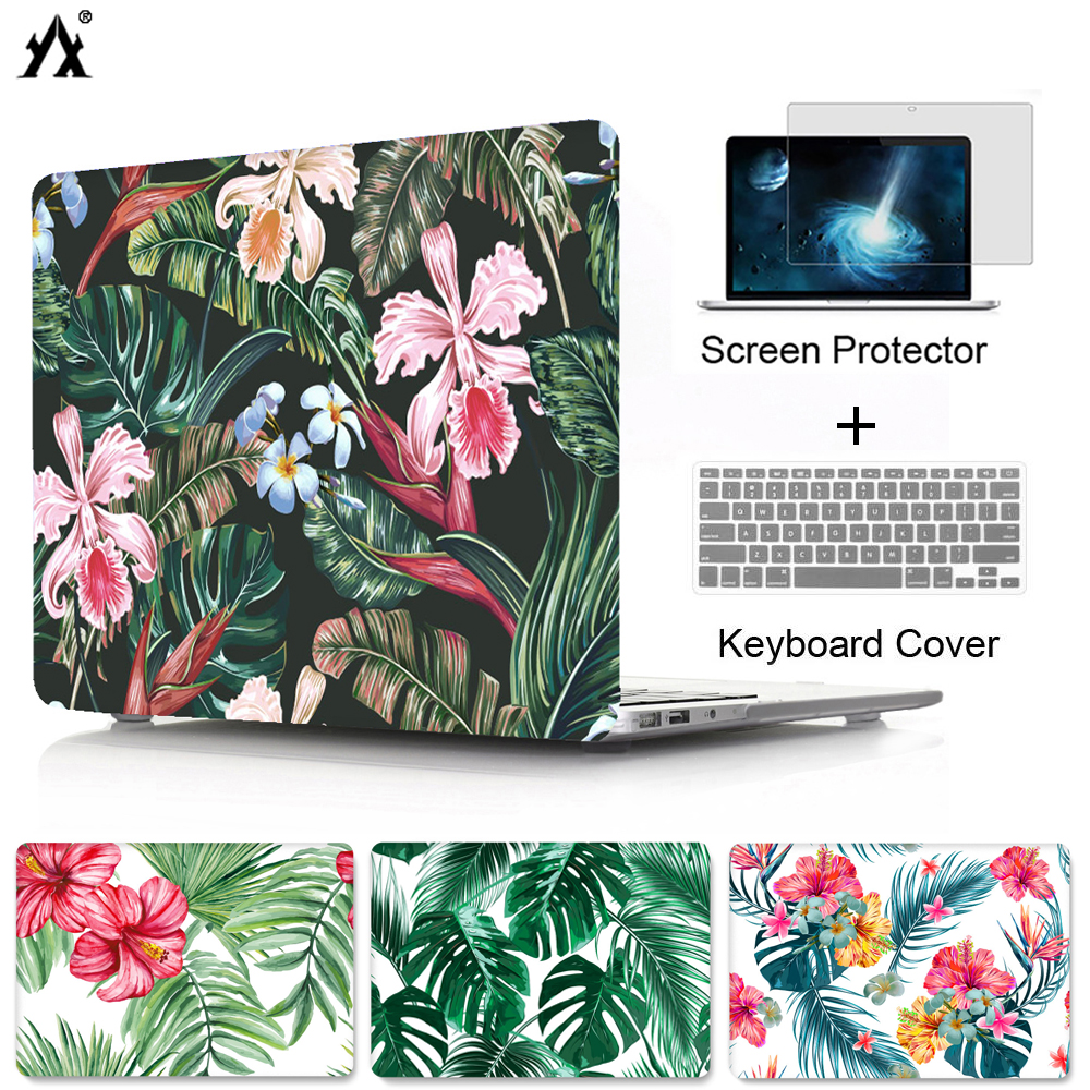 new arrival 89828 59d4c woods and flowers Hard case shell cover For MacBook Air 13 11 Pro Retina 13  15 with touch bar ,Laptop case For macbook 12 inch