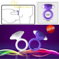Vibrator Cock Ring Waterproof SILICONE Reusable Vibrating Penis Rings Delayed Ejaculation Sex Products For Man