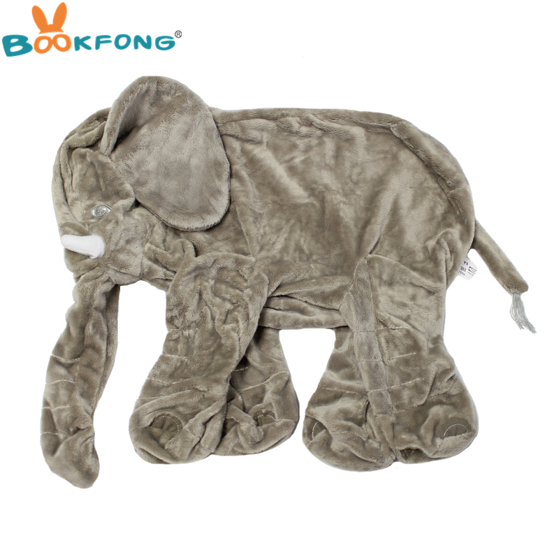 BOOKFONG 60 cm Pelle di Elefante Peluche Peluche Peluche Della Copertura Della Pelle Del Bambino Placare Sonno Cuscino Bambini Bambola Calma Bambini regali