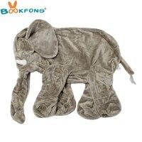BOOKFONG 55 cm Piel de Elefante de Peluche de Juguete de Felpa del Animal Relleno de la Cubierta de La Piel Del Bebé Apaciguar Sueño Almohada Niños Muñeca Calma Niños regalos