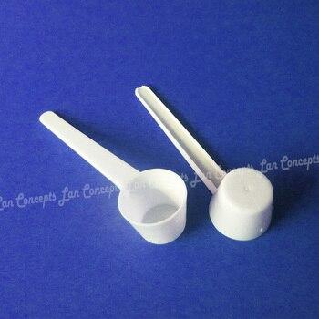 5g / 9ML Plastic Measuring Scoop 5 gram Food Grade PP Flat Spoon for medical milk powder liquid - white 1000pcs/lot wholesale