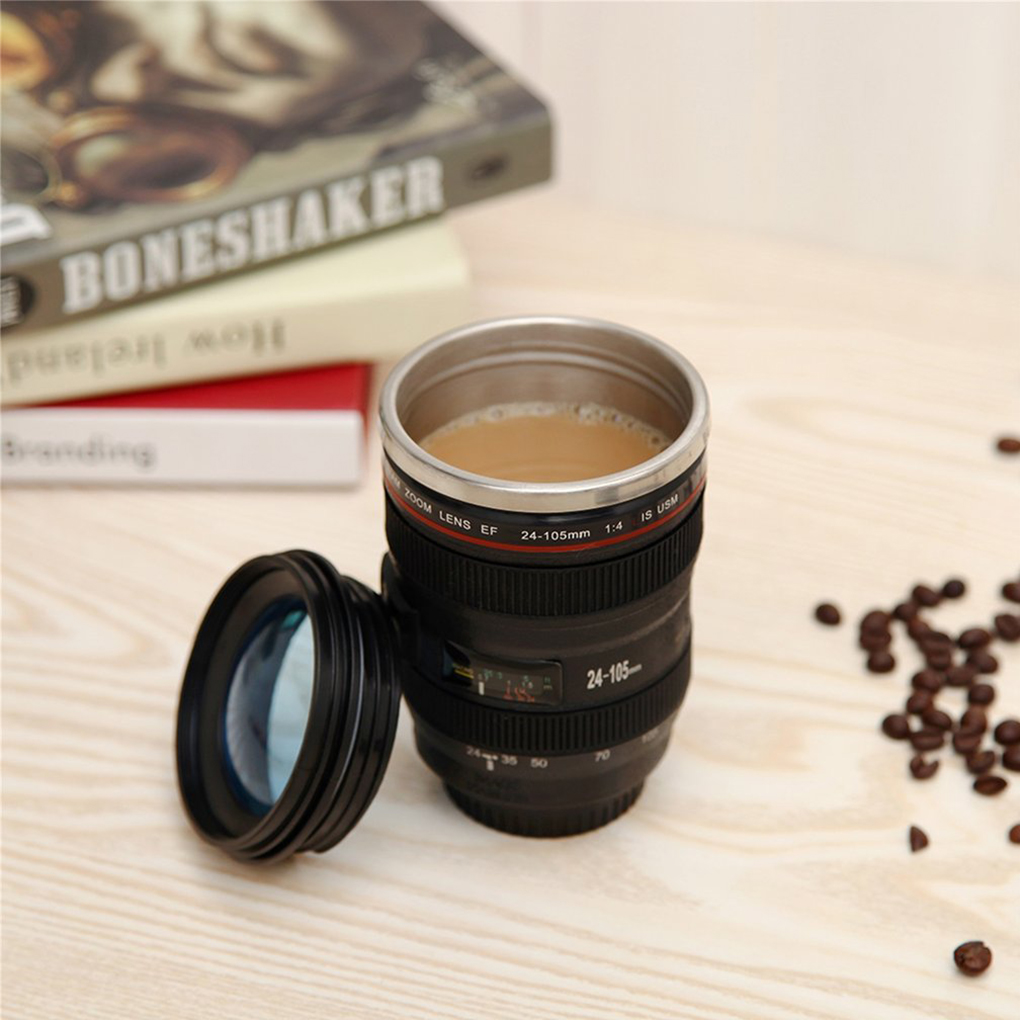 24-105 Durable Vacuum Flasks Travel Coffee Camera Lens Cup With Lid Tumbler As A Gift