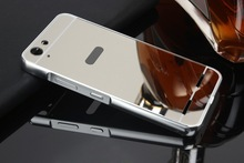 Espelho do chapeamento de metal de alumínio bumper pc + acrílico 2 em 1 caso para lenovo vibe k5/k5 plus limão 3 k32c36 (5.0 polegada) capa Capa