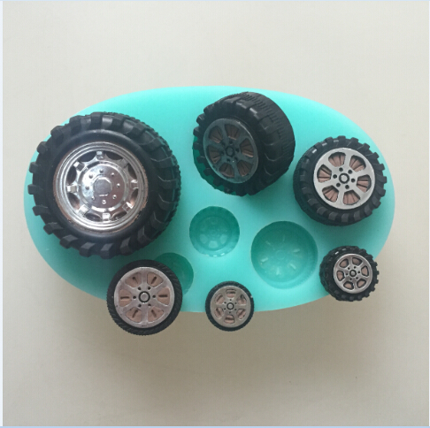 Image 4 - car wheel tires silicone flexible mold, tire silicone resin mold,  jewelry mold, fondant cake mold-in Cake Molds from Home & Garden