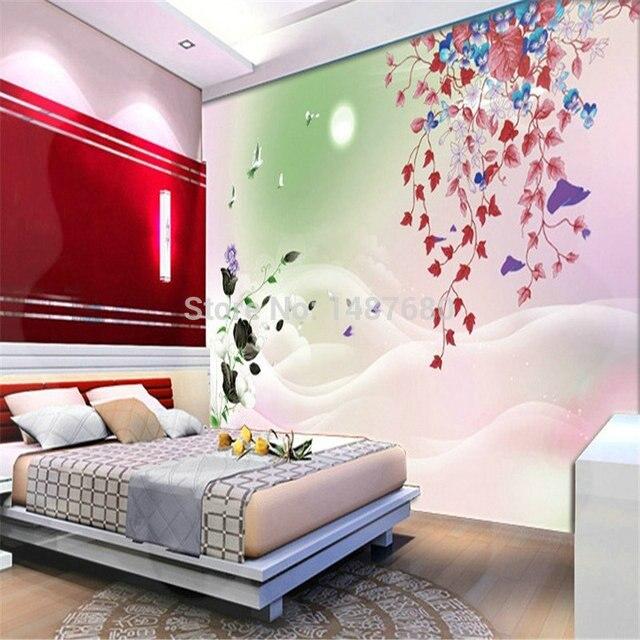 Mop water modern plum flower wall 3d white horse wall murals wallpaper 3d custom wall paper