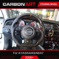 A5 car styling carbon fiber steering wheel for Audi A1 A2 A3 A4 A5 A6 A7 auto replacement parts A8 interior 2012 A3 2015 2018