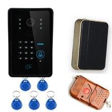 Tecla táctil WiFi Video sin hilos teléfono de la puerta inicio del sistema de intercomunicación IR RFID cámara envío gratis