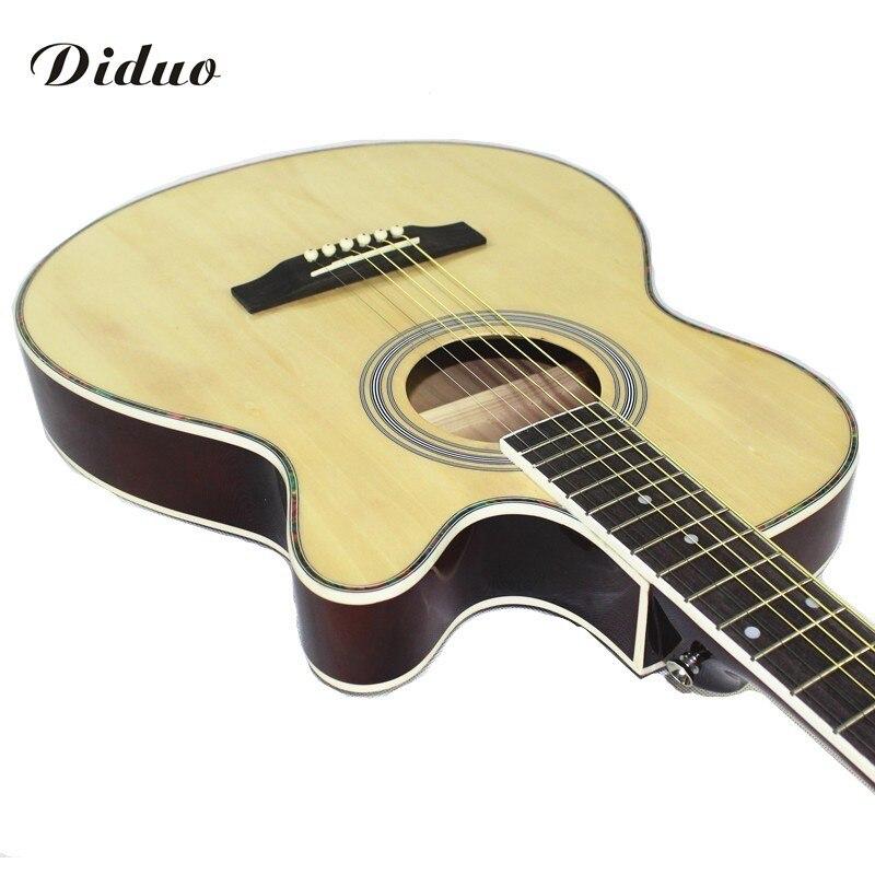 Diduo guitares 40 pouce haute qualité Acoustique Guitare Touche Palissandre guitarra avec cordes de guitare Ultra-Mince 6.4 cm