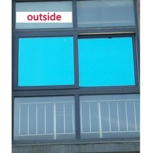 40/50/60*700cm Blue Silver One Way Mirror Window Film Glass Sticker UV Reflective privacy Solar Self Adhesive Decorative Film waterproof self adhesive uv high light mirror reflective film heat insulation opaque film decoration pet reflective sticker