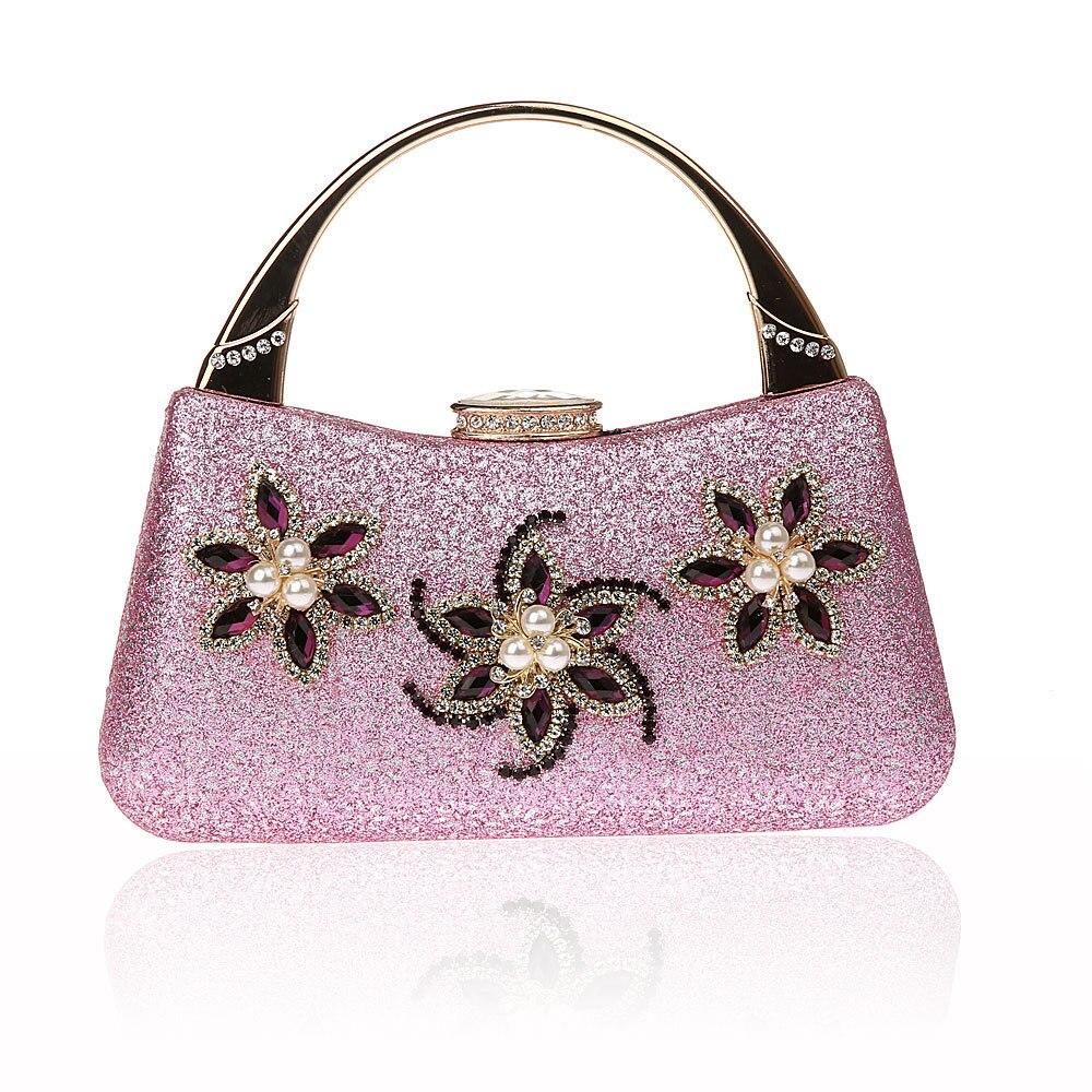 Женская Роскошная вечерняя сумочка для свадебной вечеринки с жемчужинами и цветами, сумочка для невесты через плечо, велюровый жесткий кла...