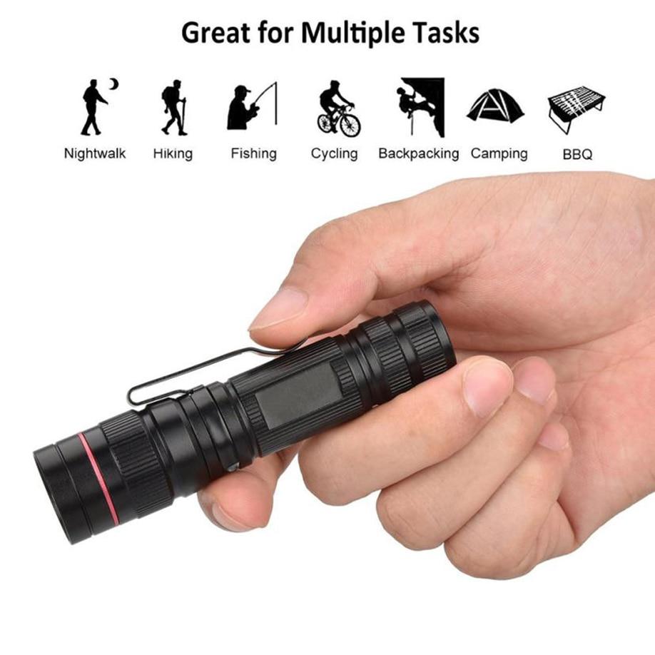 3000LM Mini Zoomable CREE XM-L Q5 LED 18650 Flashlight Torch Super Bright Lamp