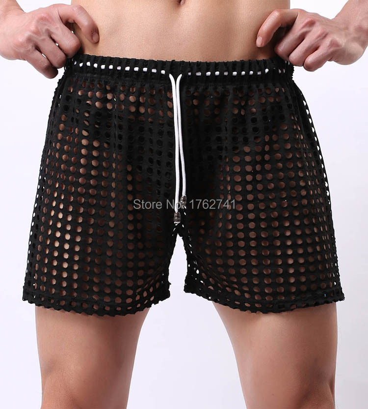 Pants Shorts Trunks Fitness Homewear XL Men's Size Ventilate Frenal Sexy Hollow