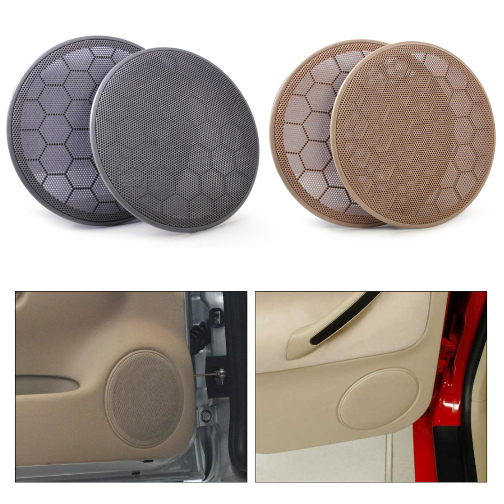 beler 2Pcs  Door Loud Speaker Cover Grill 3B0868149 for VW Beetle Passat B5 Jetta MK4 Golf GTI 1999-2001 2002 2003 2004 2005