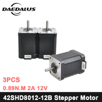 42SHD8012 12B Nema17 Stepper Motor 42 Motor Nema 17 Motor 0.89N.m 2A Motor 2 phase CNC XYZ 3d Printer Motor For Engraver Machine