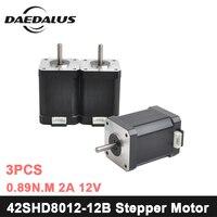 42SHD8012 12B Nema17 Stepper Motor 42 Motor Nema 17 Motor 0.89N.m 2A Motor 2 phase CNC XYZ 3d Printer Motor For Engraver Machine