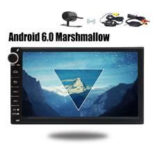Android 6.0 Car Stereo Audio -2Din Radio Video Multimedia Player Navigator Bluetooth Wifi GPS Navigation+Wirless Backup Camera