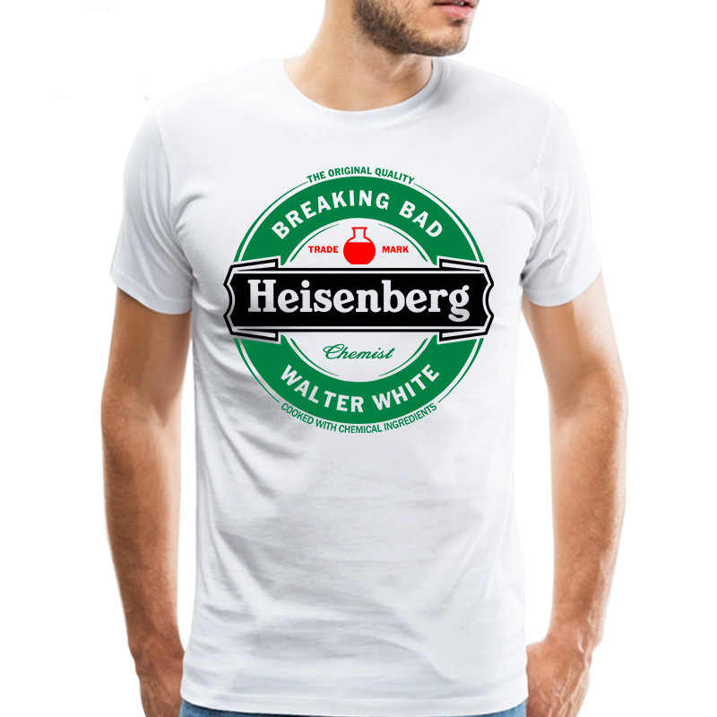 Legal Marca Homens Camiseta Heisenberg Breaking Bad camiseta Walter White Tee Mangas Curtas top tshirt branco