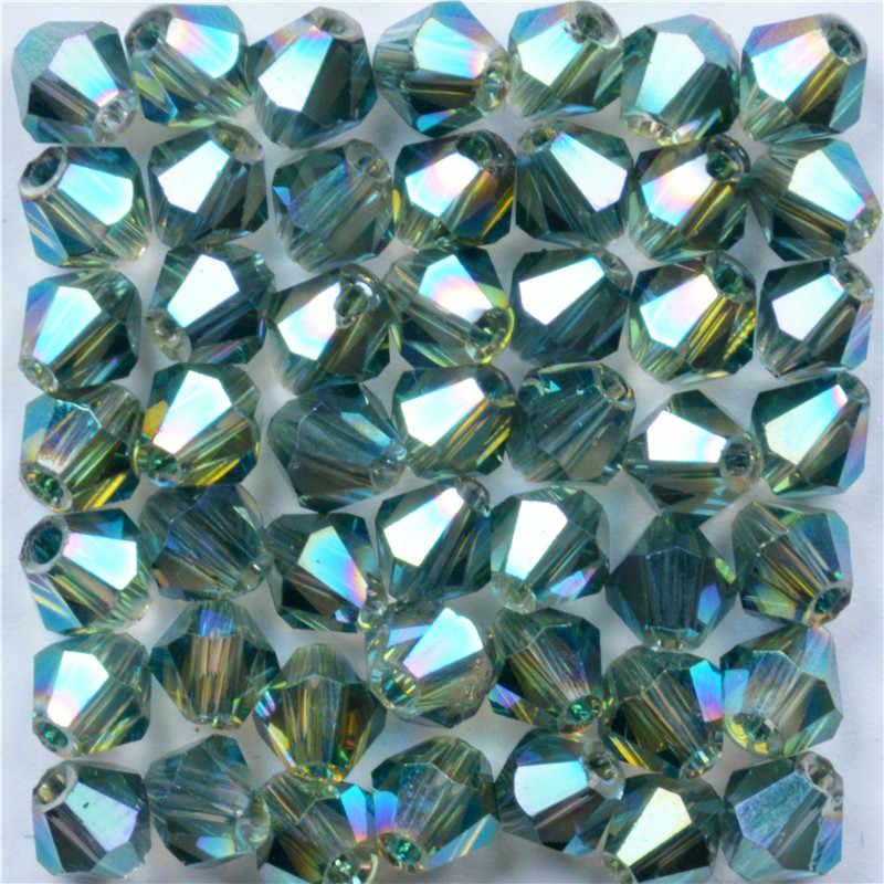 Beyaz AB Bicone Boncuk 100 adet/grup 4mm Çek Gevşek kristal boncuklar/Faceted Cam Boncuk DIY Takı için Kolye Bilezik