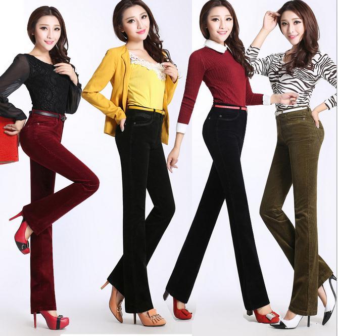 Woman s new corduroy pants Thin big yards pants