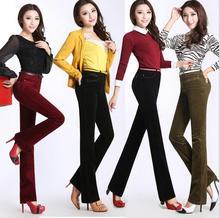 Woman's new corduroy pants Thin big yards pants