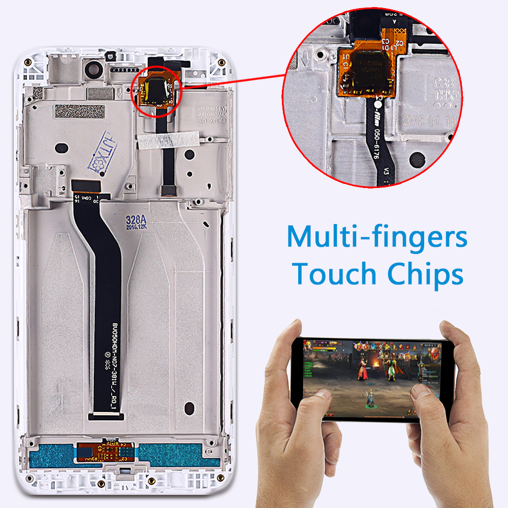 HTB1zsamObvpK1RjSZFqq6AXUVXar 100% Tested LCD Display For Xiaomi Redmi 5A 5.0 inch Digitizer Sensor Glass Assembly touch screen frame with Free Tempered Glass
