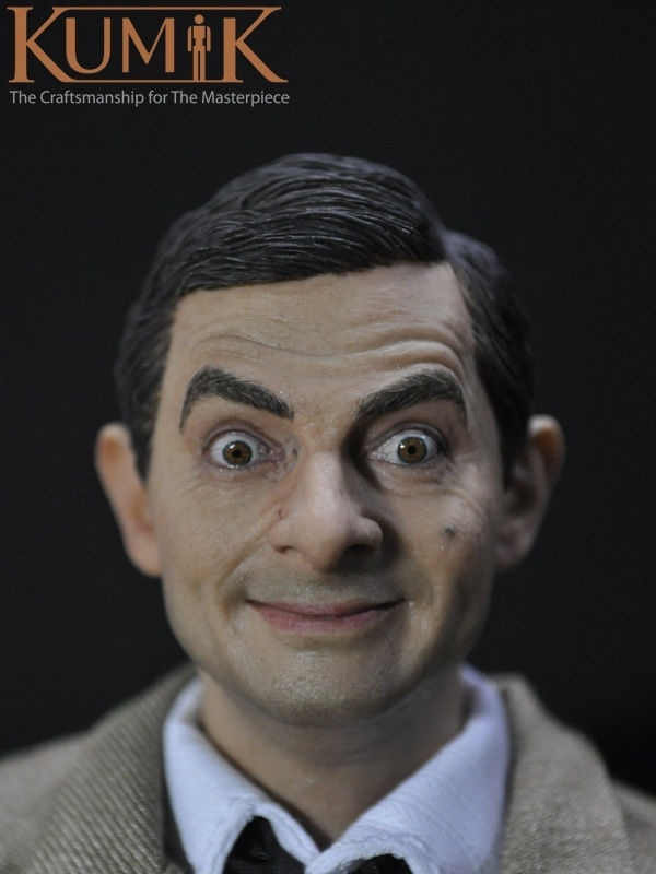 Kumik 1:6 рисунок YOOX мужской звезда Мистер Бин Роуэн Аткинсон Глава Sculpt