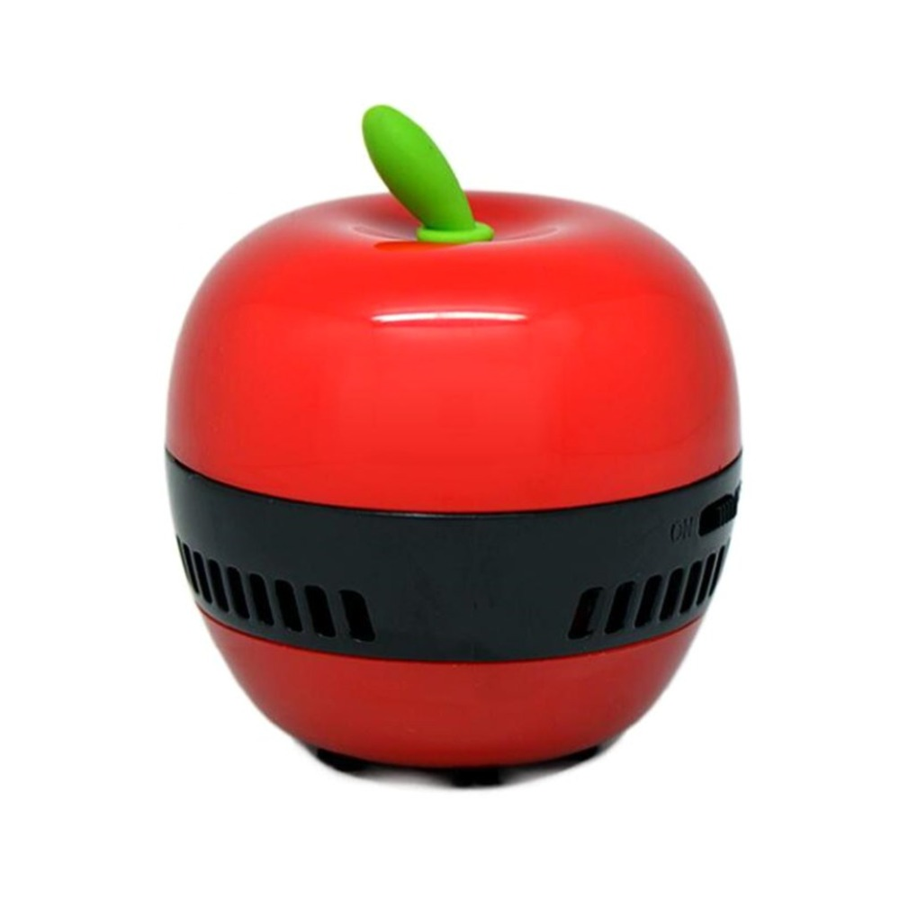 Mini Apple-shaped Desktop Coffee Table Vacuum Cleaner Dust Collector for Home Office Handheld Keyboard Cleaner Vacuum Sweeper 2 suction modes usb vacuum cleaner wireless handheld vacuum cleaner mini portable keyboard desktop cleaner for home office