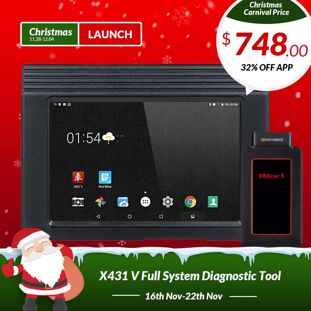 LANCEMENT X431 V 8 Bluetooth Wi-Fi Full Système De Voiture outil De Diagnostic Soutien ÉCUS Codage X-431 V Pro Mini Auto Scanner mise à jour en ligne