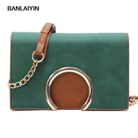 Classic Ring Design Women Leather Mini Shoulder Bags Simple Flap Chain Sling Crossbody Messenger Bags Solid
