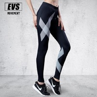 Evs النساء sweatpants نحيف الجسم الجوارب ضغط ضيق السراويل لياقة أحمر أسود الفضة الحبر المطبوعة فتل التجفيف السريع