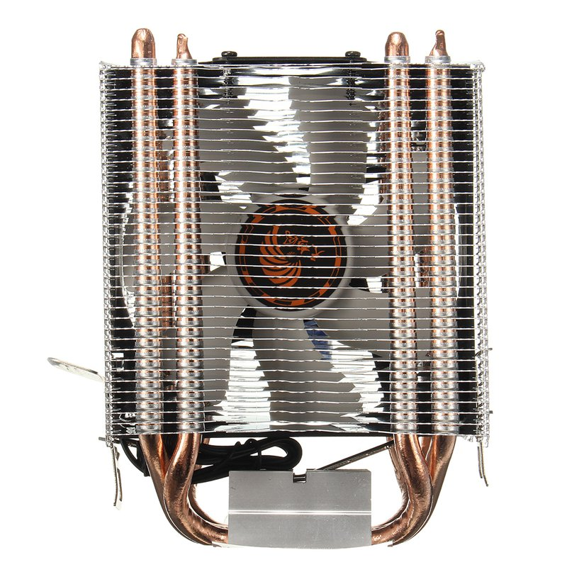3Pin 4 Heatpipe Radiator Quiet CPU Cooler Heatsink for Intel for LGA1150 1151 1155 775 1156 Fan Cooling for Desktops Computer amzdeal cpu cooler silent fan cooling dual fan cooler 2 heatpipe radiator heatsink radiator for intel amd computer