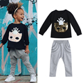 Kids Children Girls Mask Print T-shirt Tops Harem Pants Clothes Outfit Set Gilrs Costume Kids Clothing Set Suit for 2-7Years