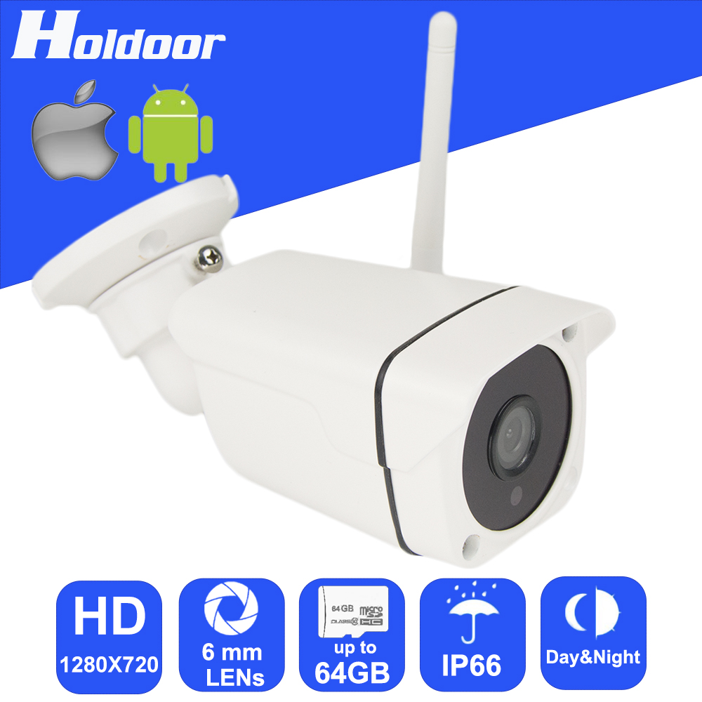 ФОТО WiFi P2P IP 720P HD Video Surveillance Night Vision 6mm Lens Camera with micro SD card slot email alert FTP image upload