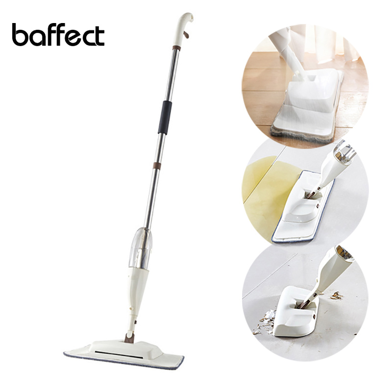 Baffect 3-in-1 Spray Mop Broom for Hardwood Floors Dust Mop with Microfiber Washable Pad for a Quick Floor Cleaner Sweep Floor image