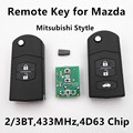 Remote Car Key for MAZDA 2 3 5 6 M2 M3 M5 M6 Keyless Entry Controller 433MHz (Style of Mitsubishi)