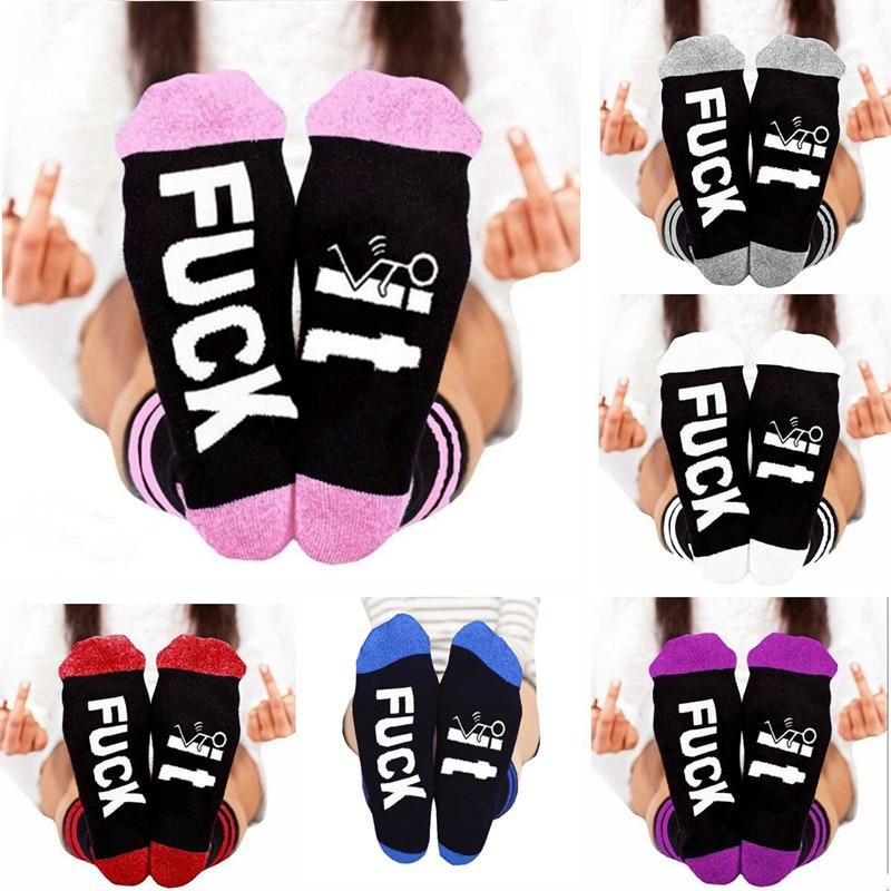 Liviixuan 6 Styles Funny Letter Print Long Crew Socks For Women Men Breathable Sport Cotton Socks Harajuku Casual Sock Calcetins