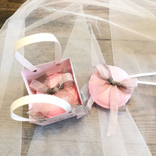20pcs/lot Romantic Wedding gift box pink gift bags with handles baptism favor boxes packaging paper Candy box Party Supplies metable 100pcs lot romantic double heart candy boxes festival wedding casamento xmas gift packaging box 5 5 5cm wc161s